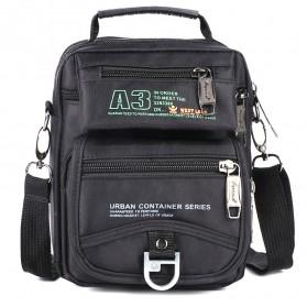 WESTLONG Tas Selempang Messenger Bag Pria Waterproof - 3705W - Black