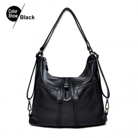 Lirenniao Tas Selempang Wanita PU Leather - 2607 - Black