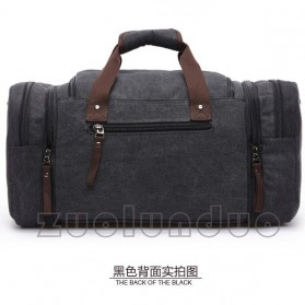 ZUOLUNDUO Tas Fashion Duffel Travel - ZLD-8642 - Black - 2