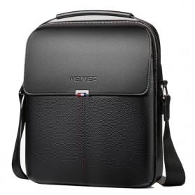 WEIXIER Tas Selempang Pria Messenger Bag PU Leather - 18068 - Black