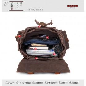 G-FAVOR Tas Ransel Pria Bahan Canvas - YD5358 - Coffee - 5