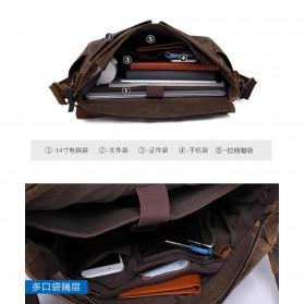 G-FAVOR Tas Selempang Messenger Pria - 5313 - Brown - 7