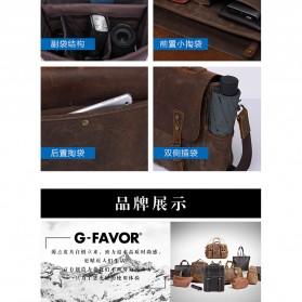 G-FAVOR Tas Selempang Messenger Pria - 5313 - Brown - 8