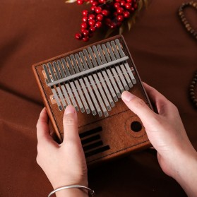 Wishmore Kalimba Mbira Thumb Piano Musical Toys 17 Note Sound - W758 - Wooden - 5