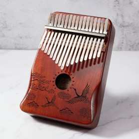 Cega Kalimba Thumb Piano Musical Toys 17 Note Sound Crane Design - CK17 - Brown