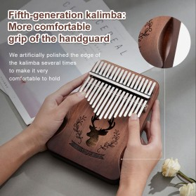 Cega Kalimba Thumb Piano Musical Toys 17 Note Sound Crane Design - CK17 - Brown - 2