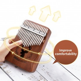 Cega Kalimba Thumb Piano Musical Toys 17 Note Sound Crane Design - CK17 - Brown - 4