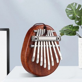 Cega Mini Kalimba Thumb Piano Musical Toys 8 Note Sound - CK18 - Brown