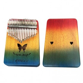 MoonLady Kalimba Thumb Piano Musical Toys 17 Note Sound Butterfly Design - CK18 - Multi-Color