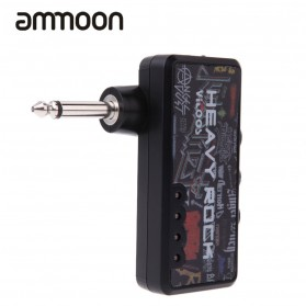 Ammoon Amplifier Gitar Jack 6.5mm Dengan Plug Headphone 3.5mm - Black