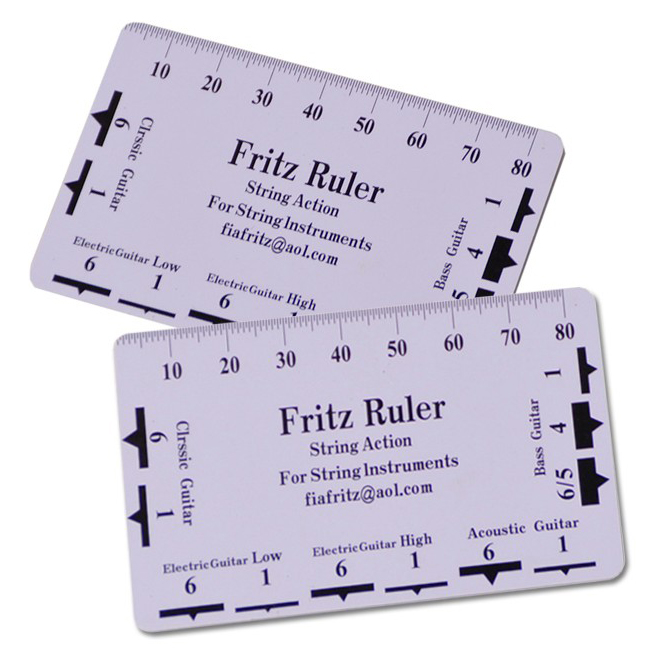 picture relating to String Action Gauge Printable called Fritz Ruler Move Gauge String Pitch Ruler Senar Gitar