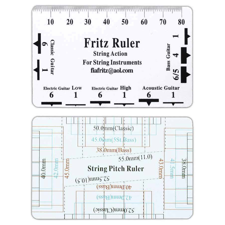 graphic about String Action Gauge Printable identify Fritz Ruler Step Gauge String Pitch Ruler Senar Gitar