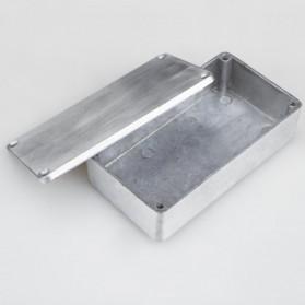 XFDZ Kotak Casing Aluminium Metal Stomp untuk Pedal Efek Gitar - 1590BB - Silver