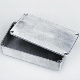 XFDZ Kotak Casing Aluminium Metal Stomp untuk Pedal Efek Gitar - 1590BB - Silver - 2