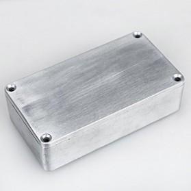 XFDZ Kotak Casing Aluminium Metal Stomp untuk Pedal Efek Gitar - 1590BB - Silver - 4