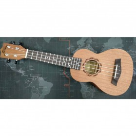 Jasson Ukulele Sopran Mini Gitar Wood Nylon Strings Size 21 - A-08 - Brown
