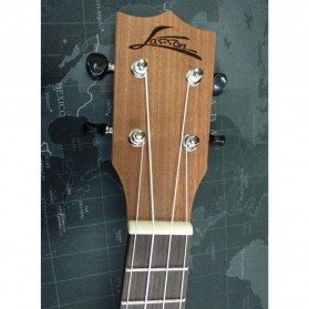 Jasson Ukulele Sopran Mini Gitar Wood Nylon Strings Size 21 - A-08 - Brown - 2