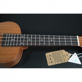 Jasson Ukulele Sopran Mini Gitar Wood Nylon Strings Size 21 - A-08 - Brown - 7