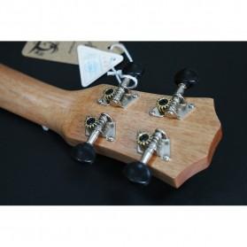 Jasson Ukulele Sopran Mini Gitar Wood Nylon Strings Size 21 - A-08 - Brown - 9