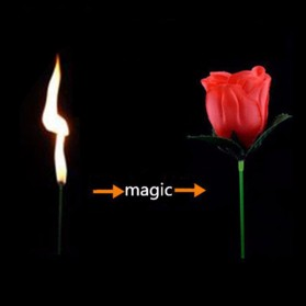 Firlar Sulap Bunga Mawar Api Torch to Rose Flower Magic Trick - 82120