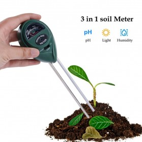 Alat Pengukur 3 in 1 Temperature & Kelembaban Tanah Soil Moist PH Analyzer - TL00378 - Black