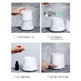 Taffware Modern Air Humidifier Aroma Therapy Diffuser 150ml - HUMI H111 - White - 10