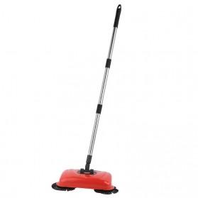 Sapu Otomatis Ajaib Automatic Broom Adjustable Height - A075 - Red