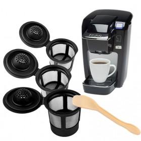 Penyaring Kopi Reusable Coffee Filter Keurig K Cup 3 PCS with Spoon - A0481 - Black
