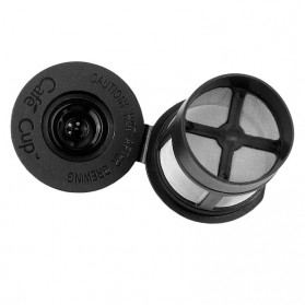 Penyaring Kopi Reusable Coffee Filter Keurig K Cup 3 PCS with Spoon - A0481 - Black - 5