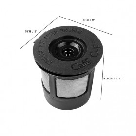 Penyaring Kopi Reusable Coffee Filter Keurig K Cup 3 PCS with Spoon - A0481 - Black - 8