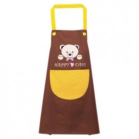 Celemek Apron Dapur Bear Happy Days - A51 - Brown