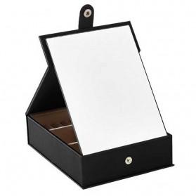 Kotak Kosmetik Make Up dengan Kaca Cermin - F118 - Black