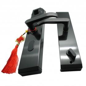 Gagang Pintu Elektrik Intelligent Biometric Fingerprint Door Lock - R-FZ3 - Black - 4