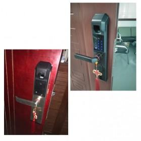 Gagang Pintu Elektrik Intelligent Biometric Fingerprint Door Lock - R-FZ3 - Black - 9