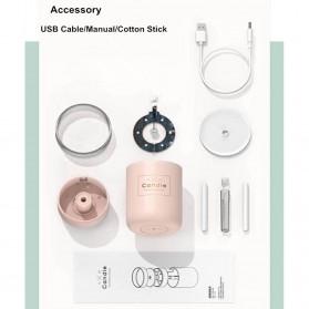 Taffware Air Humidifier Ultrasonic Aromatherapy Oil Diffuser Romantic Candle - HUMI H204 - Black - 3