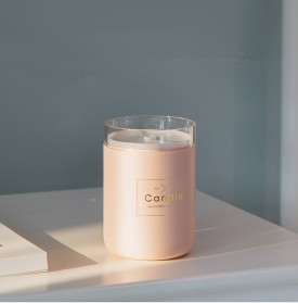 Taffware Air Humidifier Ultrasonic Aromatherapy Oil Diffuser Romantic Candle - HUMI H204 - Black - 6