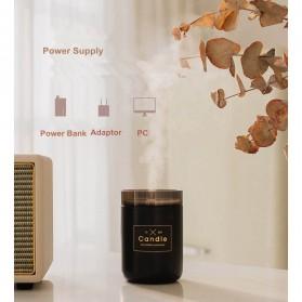 Taffware Air Humidifier Ultrasonic Aromatherapy Oil Diffuser Romantic Candle - HUMI H204 - Black - 10