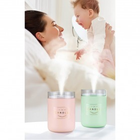 Taffware Air Humidifier Ultrasonic Aromatherapy Oil Diffuser Romantic Candle - HUMI H204 - Black - 12