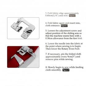 Sepatu Mesin Jahit Rolled Hem Press Foot 8/8 25mm - CY-7306A - Silver - 5