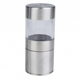 Penggiling Biji Lada Manual Pepper Mill Grinder Stainless Steel - CIQ - Silver