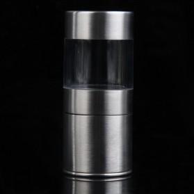 Penggiling Biji Lada Manual Pepper Mill Grinder Stainless Steel - CIQ - Silver - 2