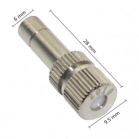 Water Mist Sprinkler Drip Irigasi Penyiram Air Taman Nozzle Stainless Steel 4mm 1 PCS - JM009 - Silver - 2