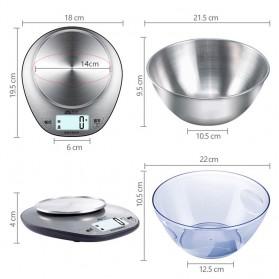 SENSSUN Timbangan Dapur Digital 5kg 1g - EK518 - Silver - 6