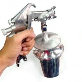 LUPING Professional Spray Gun Pneumatic Airbrush Car 400ML - F-75-G - Silver - 2