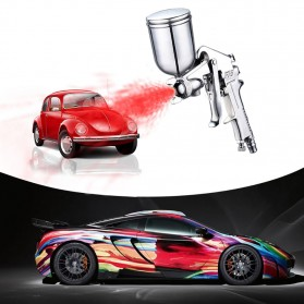 LUPING Professional Spray Gun Pneumatic Airbrush Car 400ML - F-75-G - Silver - 3