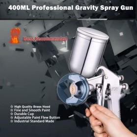 LUPING Professional Spray Gun Pneumatic Airbrush Car 400ML - F-75-G - Silver - 6