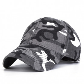Topi Trucker Baseball Camouflage Army Summer Hat - S8R - Gray - 1