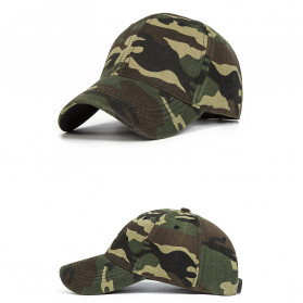 Topi Trucker Baseball Camouflage Army Summer Hat - S8R - Gray - 4