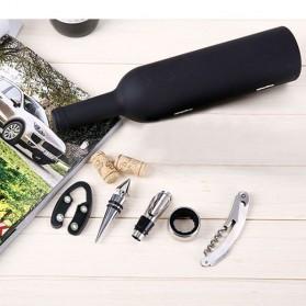 Sweettreats Perlengkapan Set Pembuka Tutup Botol Wine Bar Tools Corkscrew - Black - 3