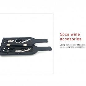 Sweettreats Perlengkapan Set Pembuka Tutup Botol Wine Bar Tools Corkscrew - Black - 6